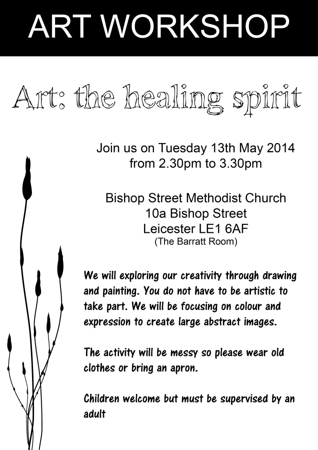 Art- The Healing Spirit Workshop leaflet a4 (1)