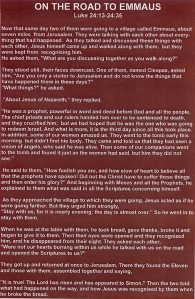 Ric Stott Road to Emmaus Text