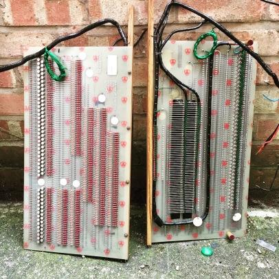 Examples of the circuit boards, they are double sided so could be wall mounted or made to be free standing boards